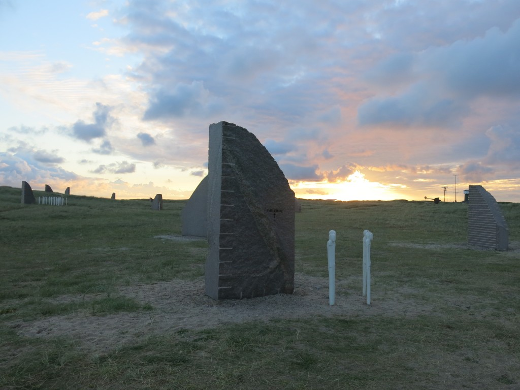 Monument voor de slag bij Jutland, elke steen is een schip, elke man voor 50 doden
